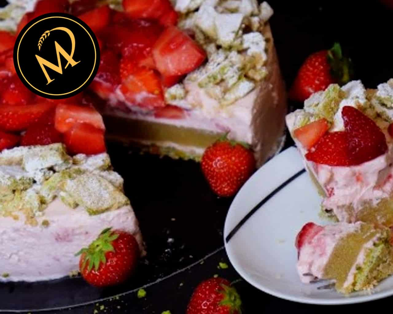 Erdbeeren Rhabarber Torte